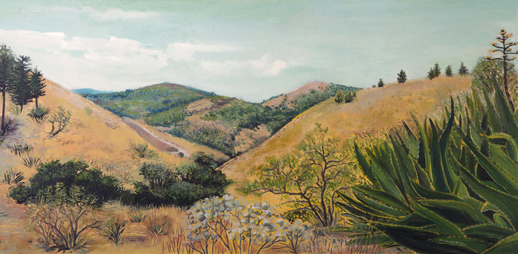 View of Segesta, oil on canvas by Maria Rizzo.