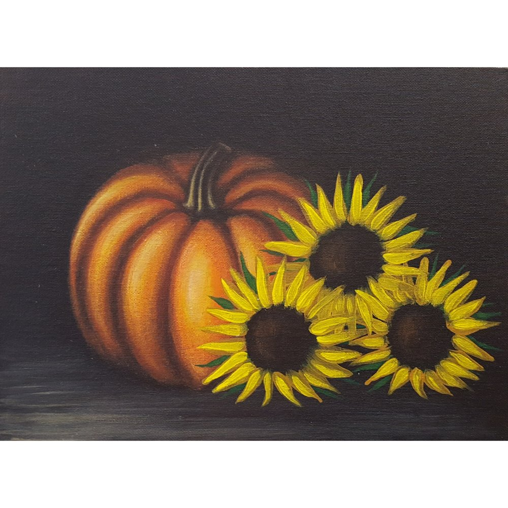 Acrylic Painting 1 - Still Life Pumpkins  - November 8, 2017(6:30 PM - 8:30 PM)