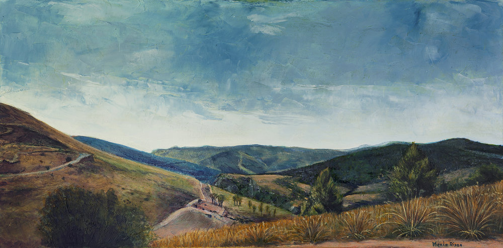 View of Segesta II, oil on canvas by Maria Rizzo