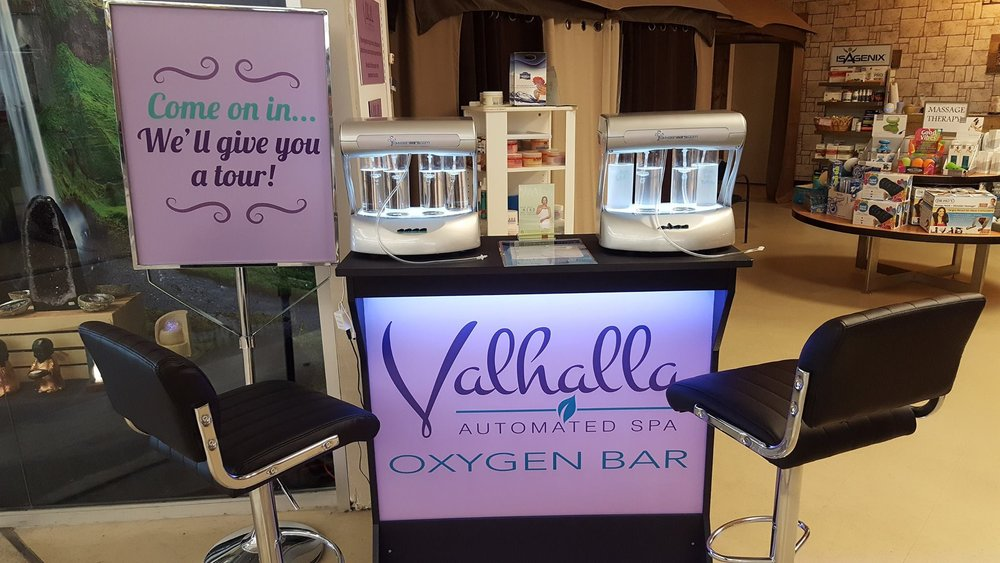 Try out Valhalla Essentials in our new oxygen bar.