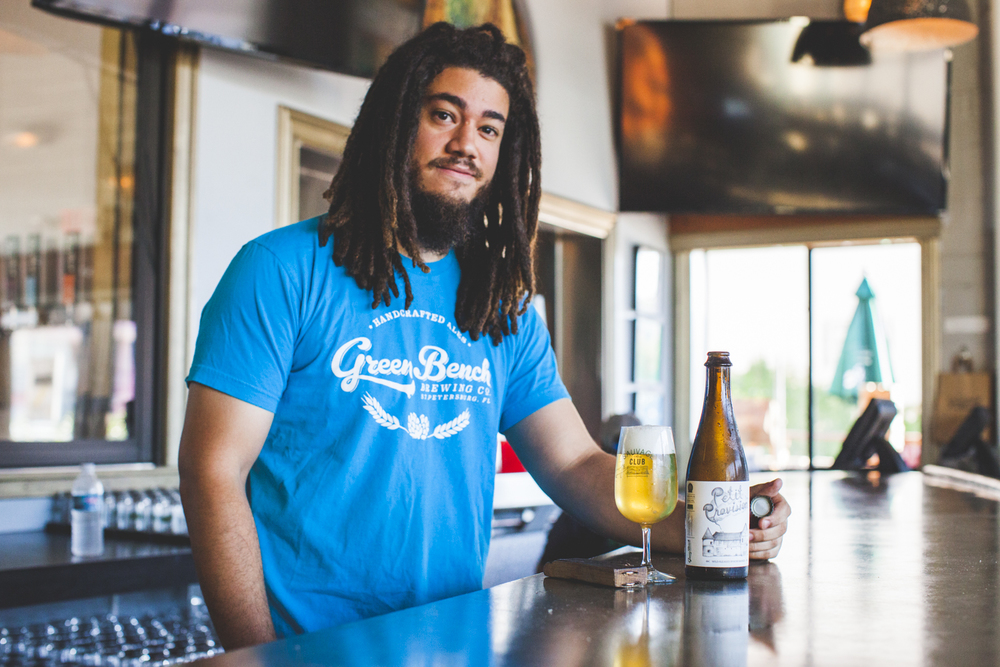 Khris Johnson, head brewer at Green Bench.