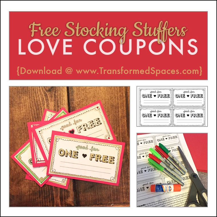love coupons free downloadable sheet transformed spaces