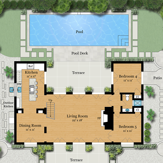 Floor plan visuals for Residential building plans
