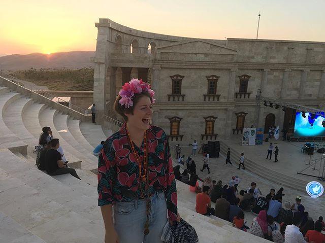 Kurdish sunset at Kurdish concert in Kurdish colosseum