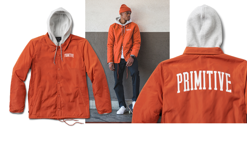 19aed4e9c PRIMITIVE® TWO-FER COACH - Two-layer coach's jacket lined in fleece.