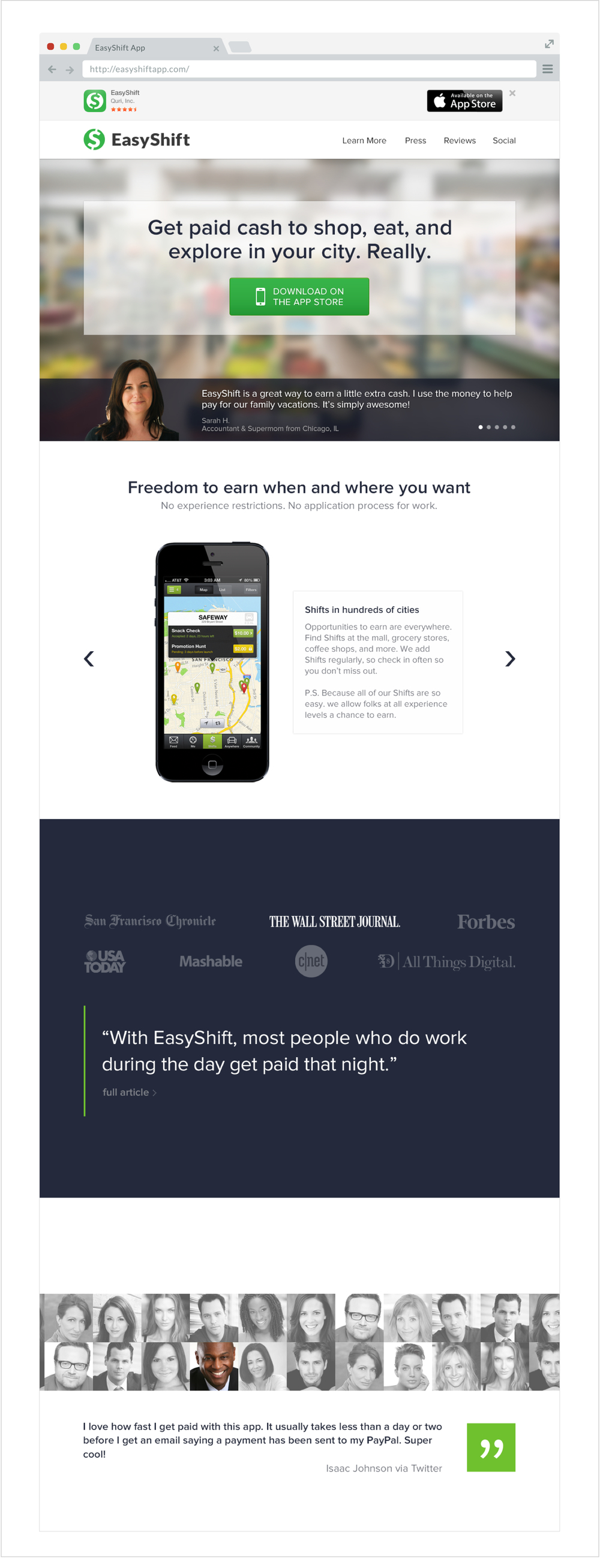 Fig 4.  EasyShiftapp.com, 2013
