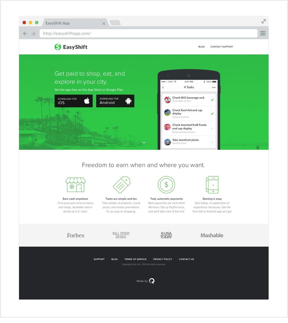 Fig 5. EasyShiftapp.com, 2014(responsive)