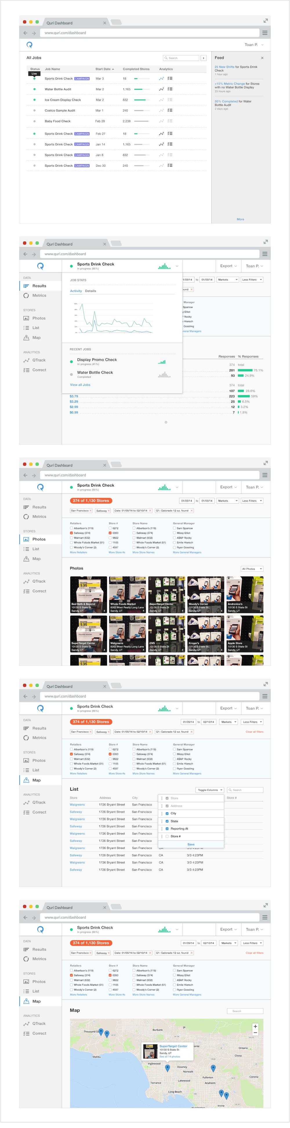 Fig 2. Quri web app (responsive),2014