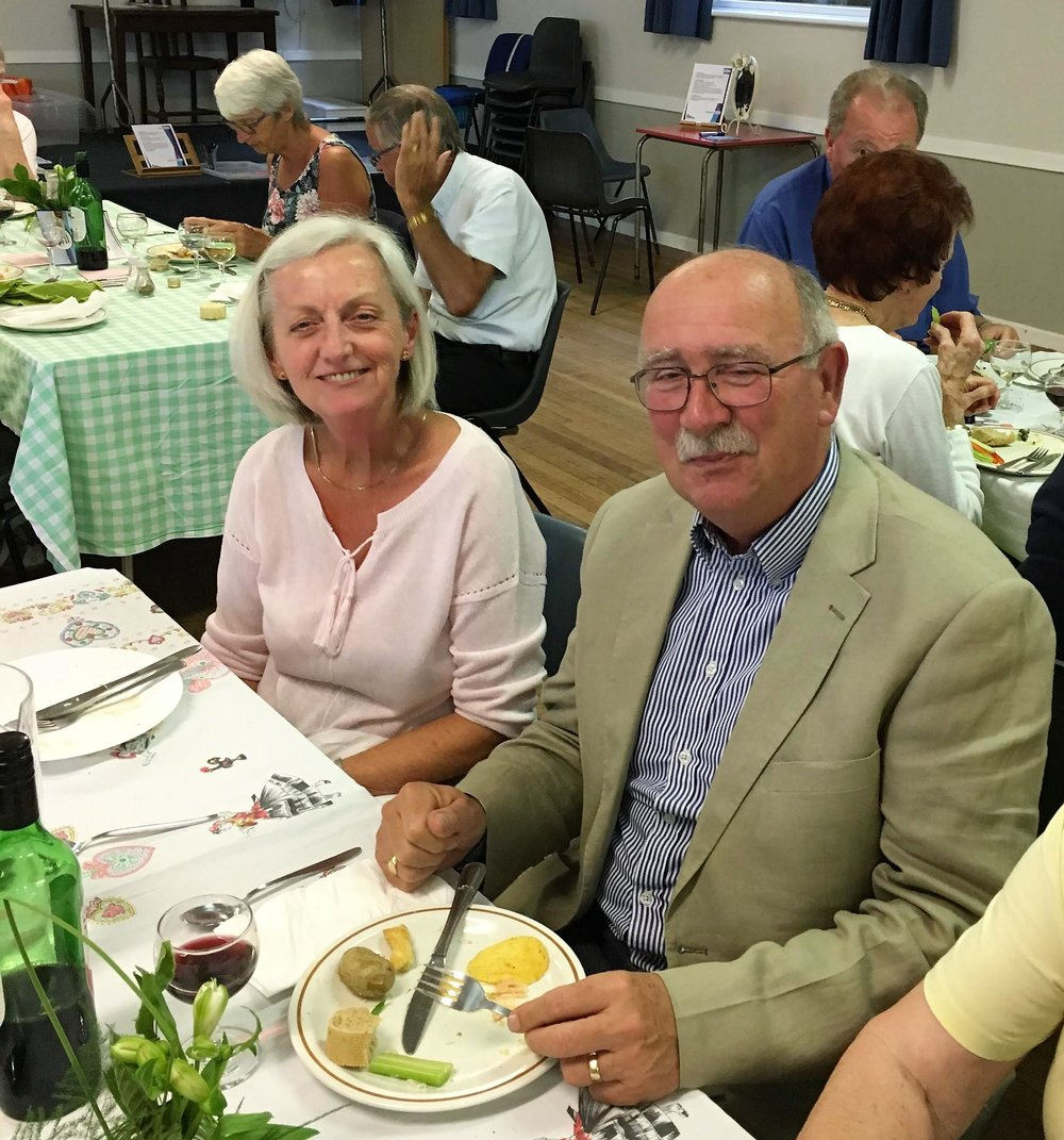 Enjoying a community meal as part of a Bible Weekend - Food, Glorious Food