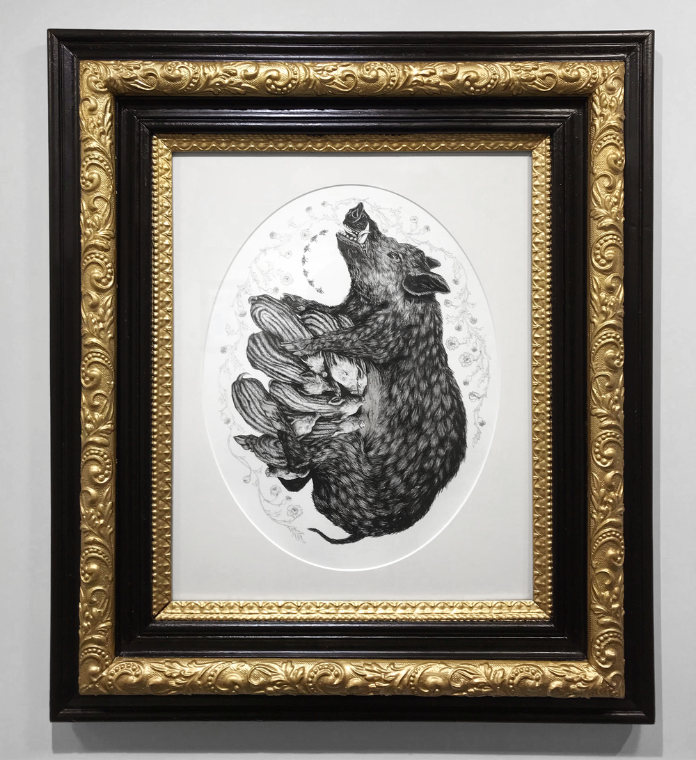 Nature the Gentlest Mother  | Framed in an antique found frame |  shop