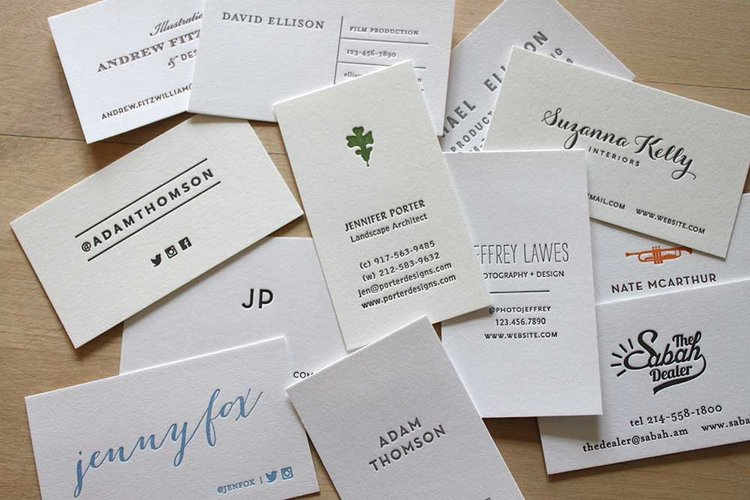 Letterpress business cards brooklyn social cards letterpress card business cardg colourmoves
