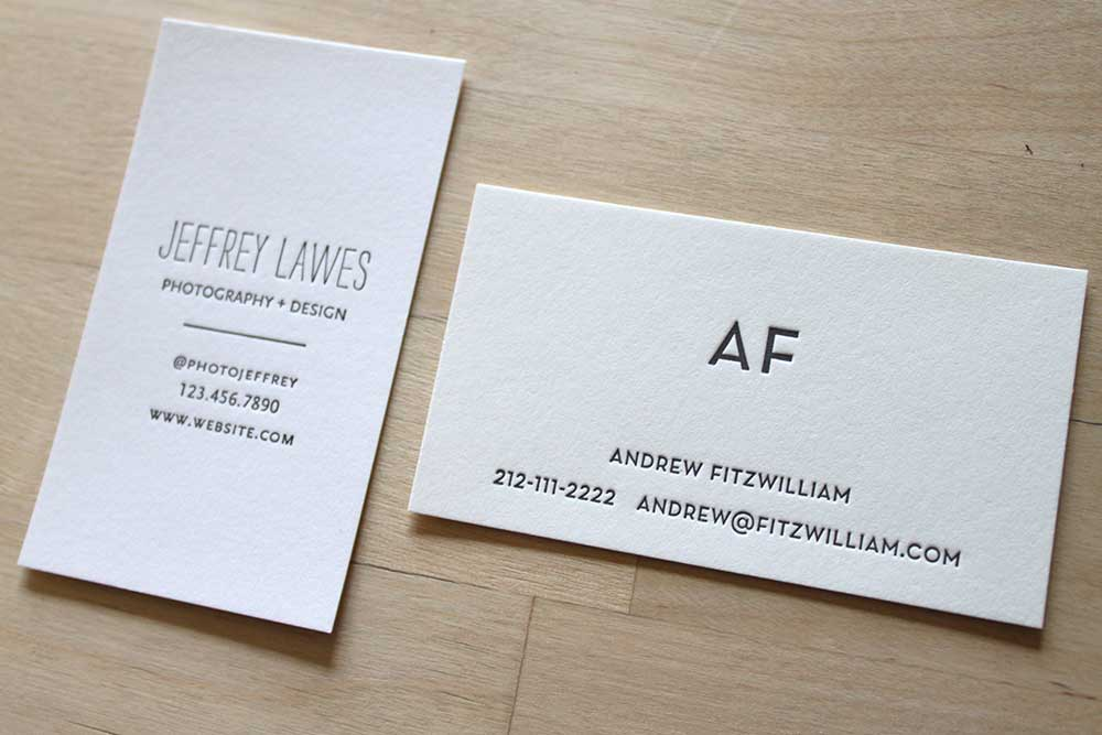 Business Letterpress Cards
