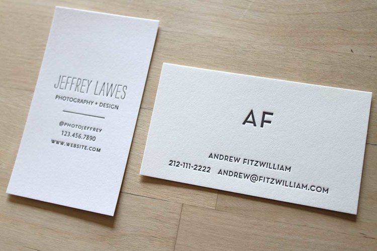 Letterpress business cards brooklyn social cards business letterpress cardsg reheart Gallery