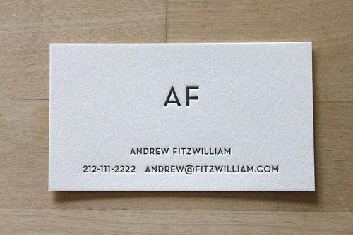 Modern monogram letterpress business cards brooklyn social cards modern monogram letterpress business cards colourmoves