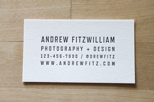 Industrial Lettering  Letterpress Business Cards  Brooklyn Social