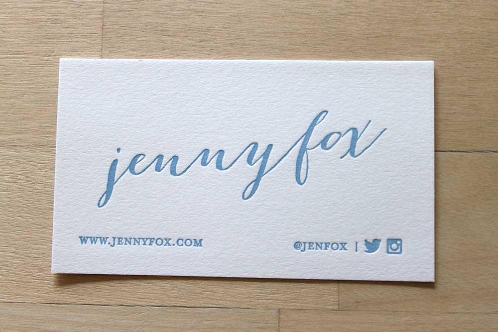 Calligraphy social letterpress business cards u brooklyn social