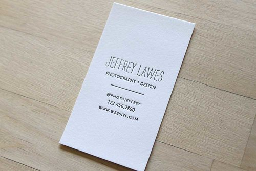Hand Lettered Name - Letterpress Business Cards — Brooklyn Social Cards