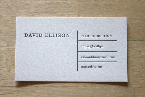 horizontal lines letterpress business cards - Letterpress Business Cards