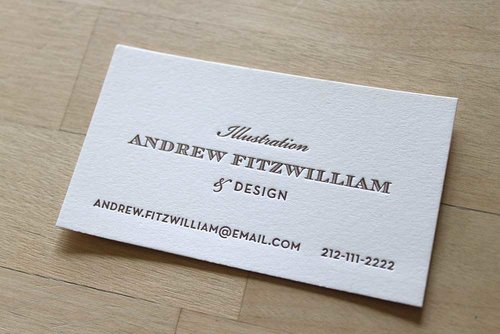 Mixed Type - Letterpress Business Cards — Brooklyn Social Cards