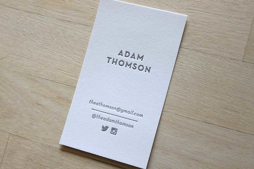 Social Portrait  Letterpress Business Cards  Brooklyn Social Cards