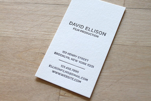 Modern portrait letterpress business cards brooklyn social cards modern portrait letterpress business cards colourmoves