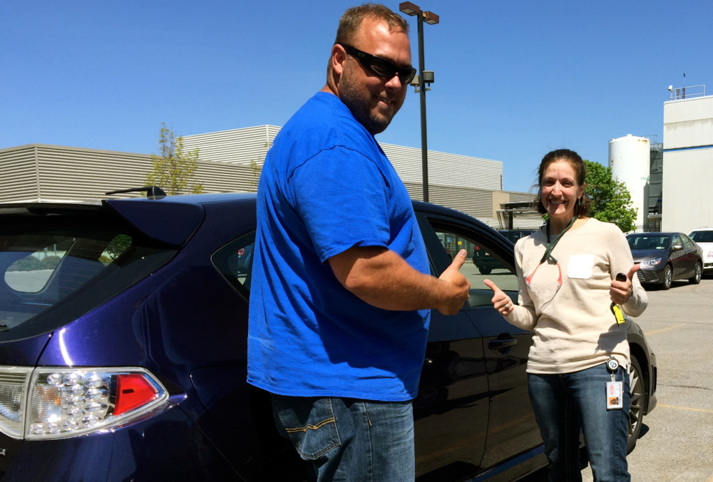 Another Happy Customer. Christina was so excited to get her new Subaru WRX repaired!