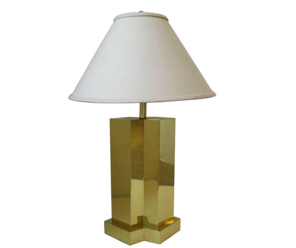 Vintage Modern Brass Table Lamp After Designer Paul Evans