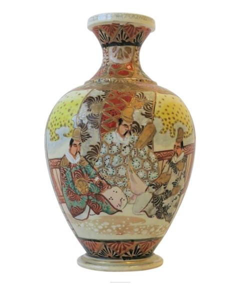 Satsuma Vase Ca 1930s Anne Dittmeier