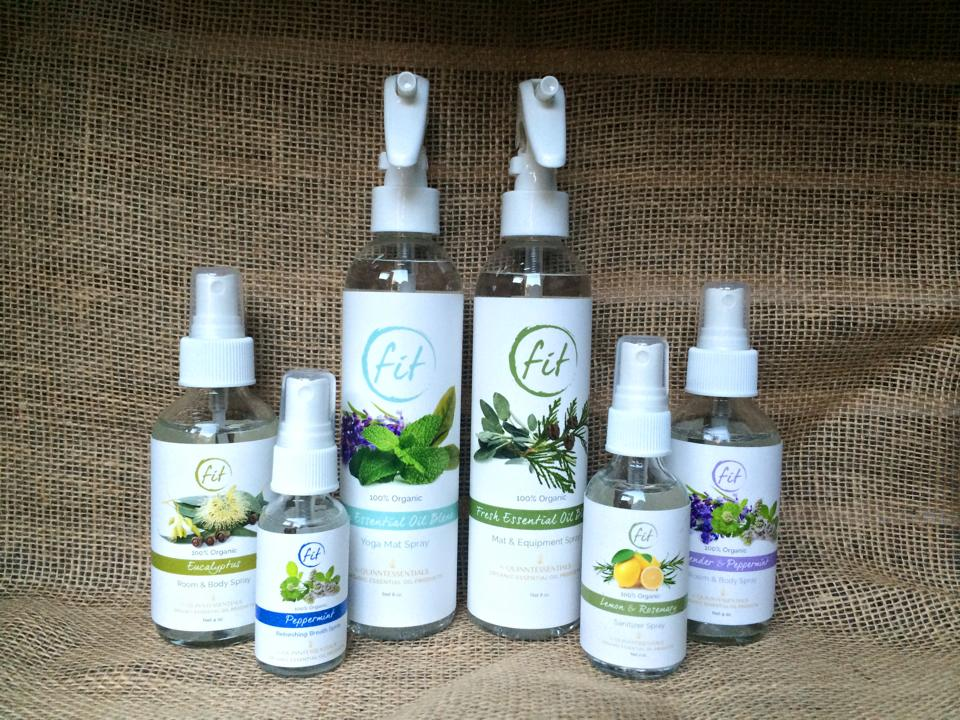 Private label organic essential oil line created for Fit Athletic Club.