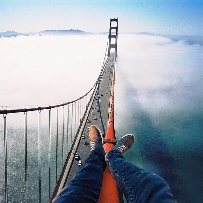 Chillin' on Golden Gate Bridge