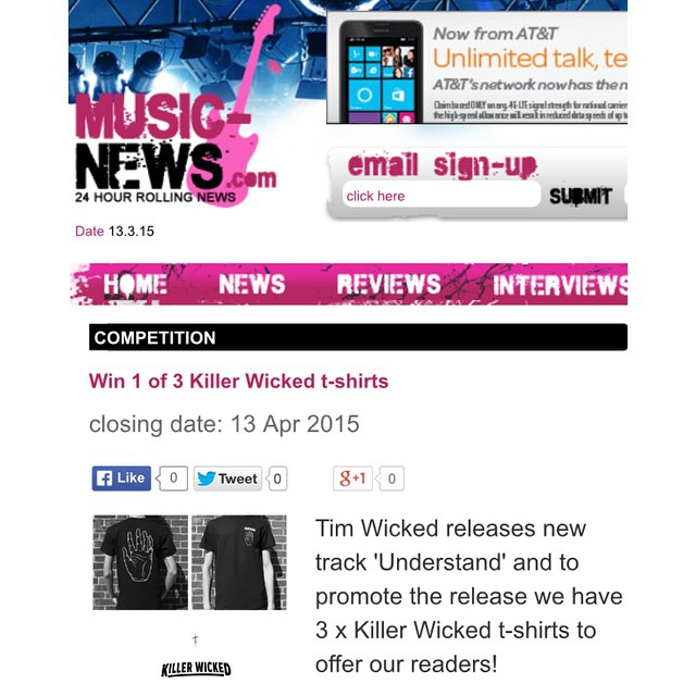 UK cuties we're doing a t-shirt give away competition with music-news.com check the site for details. #UNDERSTAND #KILLERWICKED