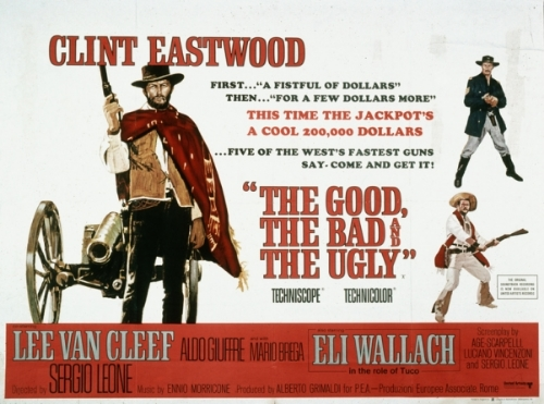 The Good, the Bad, and the Ugly (1967) dir. Sergio Leone Rated: R image: ©1967 United Artists