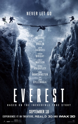 Everest (2015) dir. Baltasar Kormákur Rated: PG-13 image: ©2015 Universal Pictures