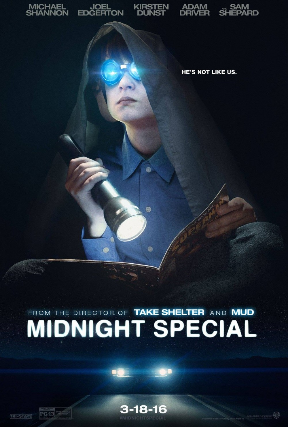Midnight Special   (2016) dir. Jeff Nichols Rated: PG-13 image: ©2016  Warner Bros. Pictures