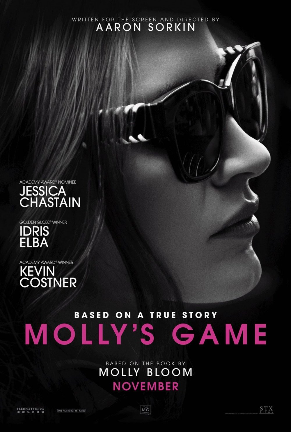 Molly's Game   (2017) dir. Aaron Sorkin Rated: R image: ©2017  STX Entertainment