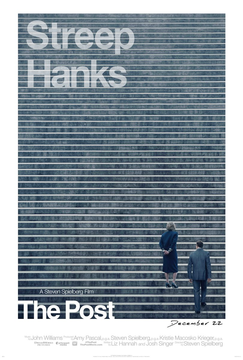 The Post   (2017) dir Steven Spielberg Rated: PG-13 image: ©2017  20th Century Fox