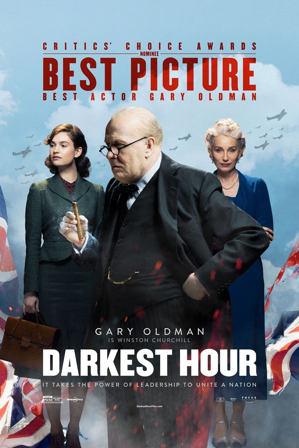 Darkest Hour   (2017) dir. Joe Wright Rated: PG-13 image: ©2017  Focus Features