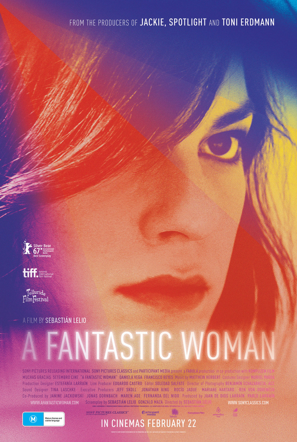 A Fantastic Woman   ( Una Mujer Fantástica ) (2017) dir. Sebastián Lelio Rated: R image: ©2017  Sony Pictures Classics