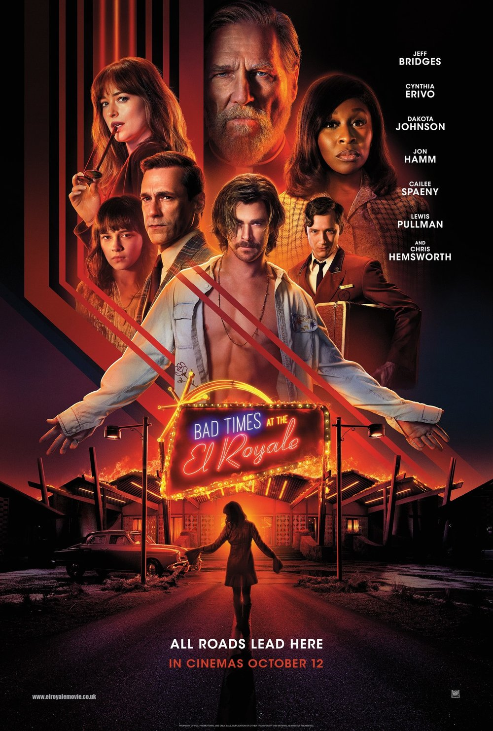 Bad Times at the El Royale   (2018) dir. Drew Goddard Rated: R image: ©2018  20th Century Fox