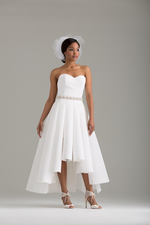 "NKB17-85001    ""Sofia"" Corseted Mini-Dress &  NKB17-83006  ""Magnolia"" White Silk Gazar Multi Layers Pleat Skirt"