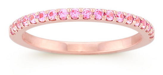Pink Sapphires on 14k Rose Gold  by Shane Co