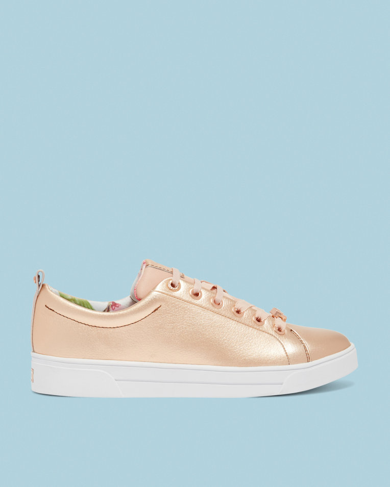 TED BAKER LONDON KELLEI      Printed lace up sneakers    $160
