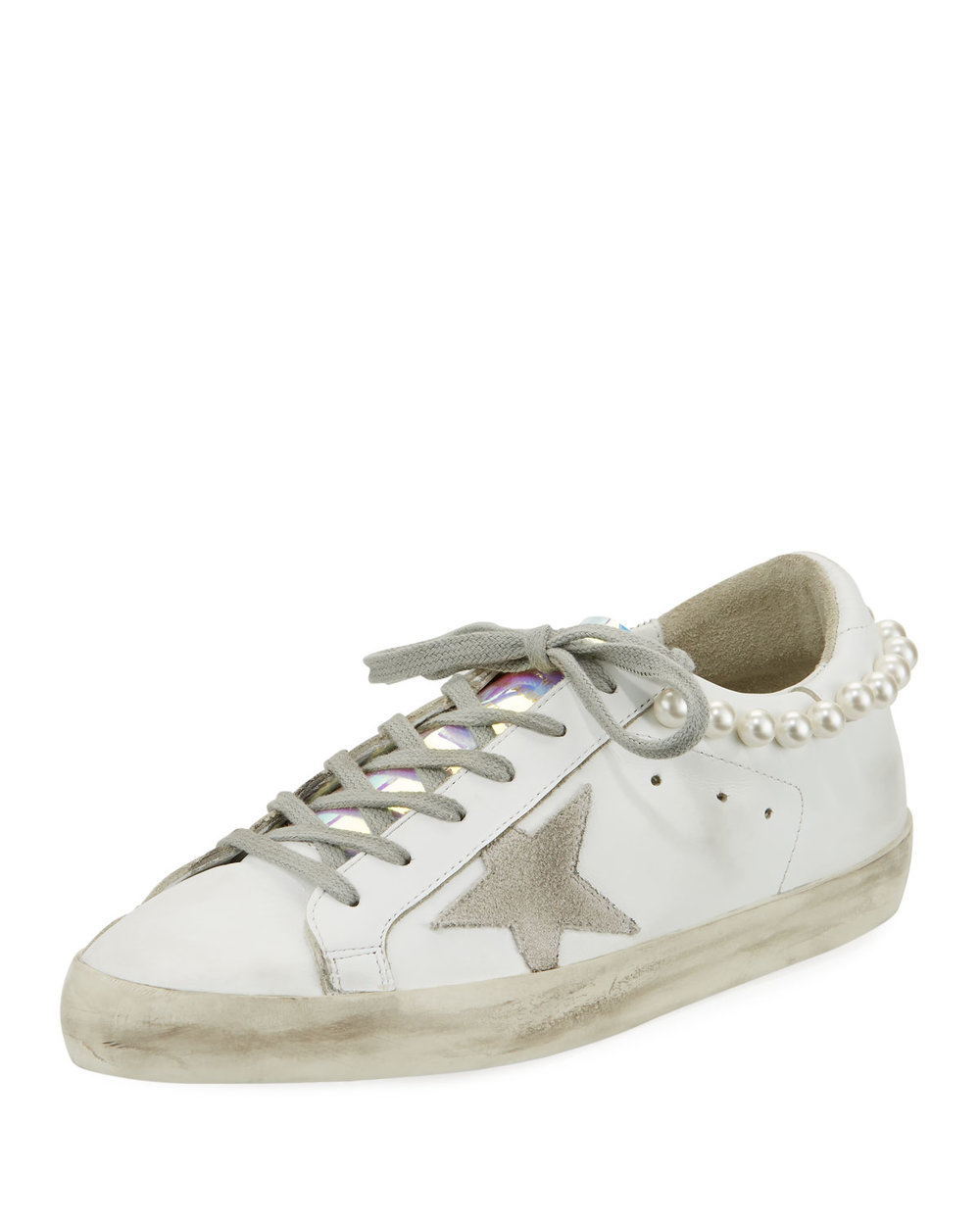Golden Goose Superstar Pearly Necklace Sneaker   $655.00