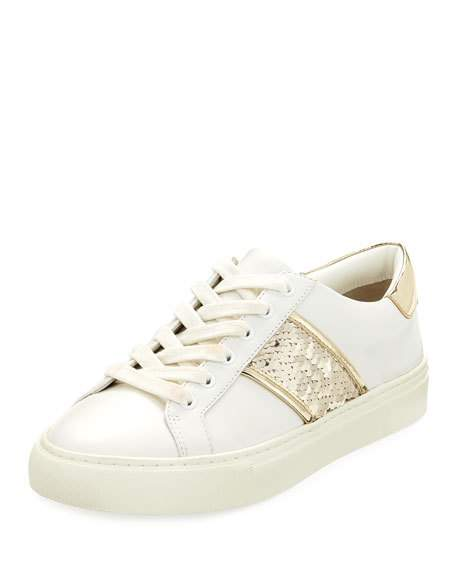 Tory Burch Carter Lace-Up Low-Top Sneaker   $248.00