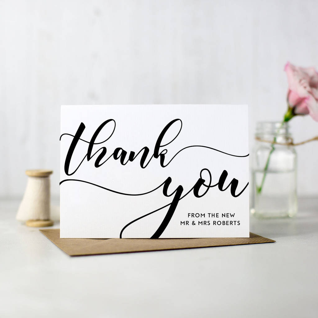 Thank You Cards What S The Etiquette Nk Bride
