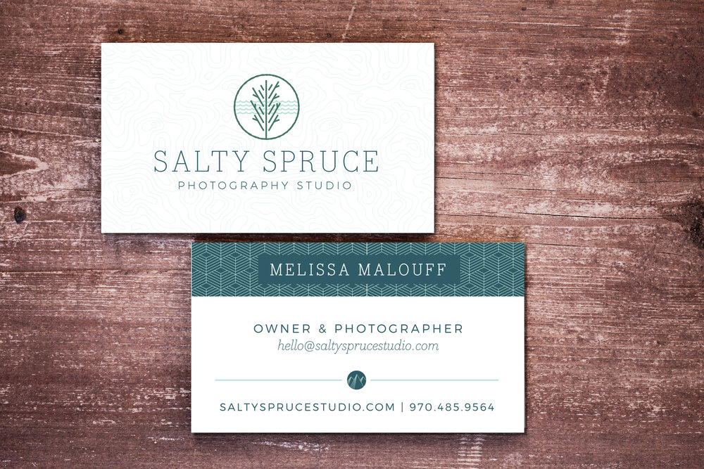 Salty Spruce Photography Studio Business Card Design