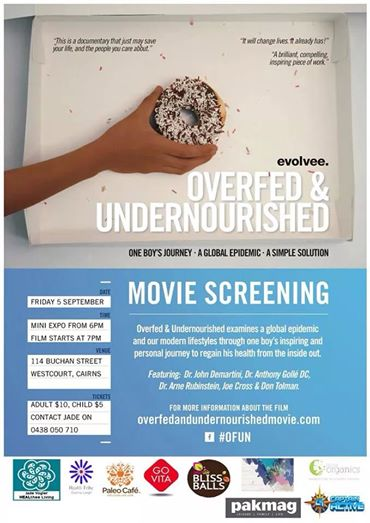 Overfed & Undernourished movie screening.  Guest speaker panel.