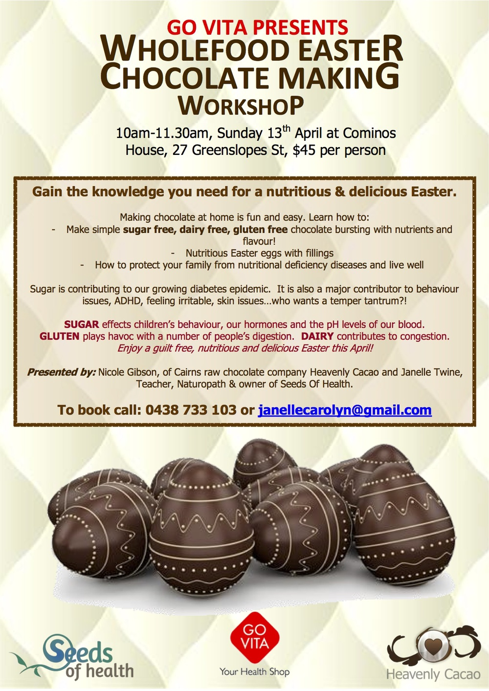 Wholefood Easter Chocolate Making workshop