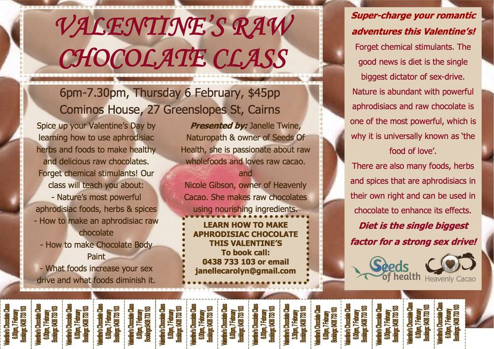 Valentine's Day Raw Chocolate class