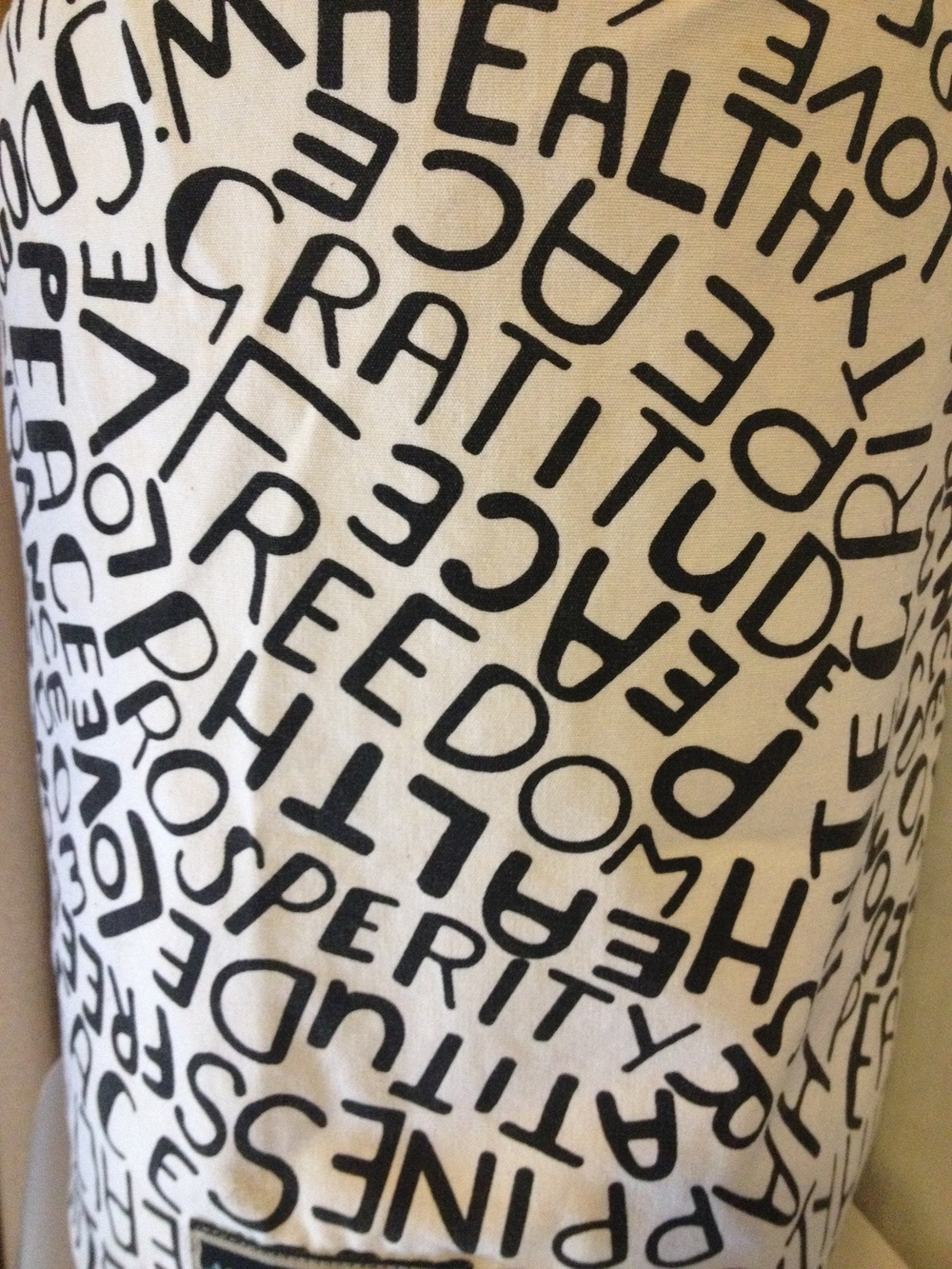"""Messages to water"" cover on all our filtered water containers"